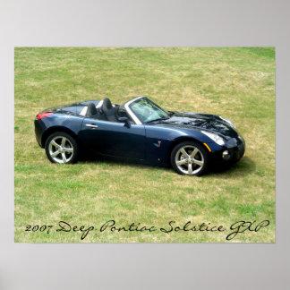 2007 Deep Blue Pontiac Solstice GXP Picture Poster