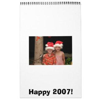 ¡2007 feliz! calendario de pared