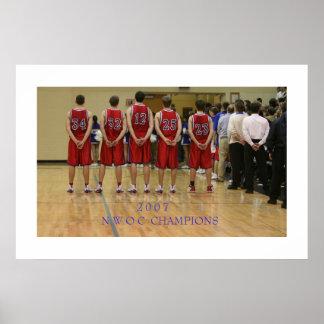 2007 NWOC basketball championship game Poster
