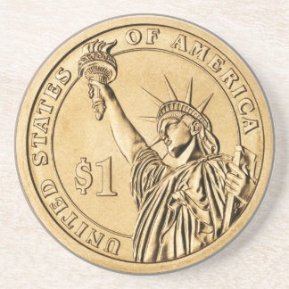 2007 Presidential One Dollar Coin from U.S. Mint Coaster