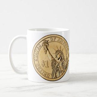 2007 Presidential One Dollar Coin from U.S. Mint Coffee Mug