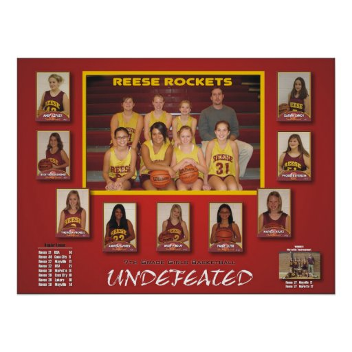 2007 Reese Rockets Poster