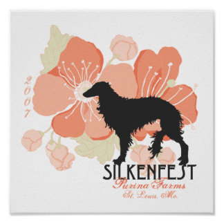 2007 Silkenfest logo Crystal Buckey poster/print