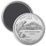 2007 Washington State Quarter Refrigerator Magnet