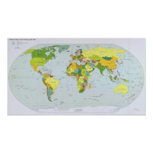 2007 World Map Poster