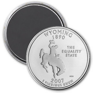 2007 Wyoming State Quarter magnet