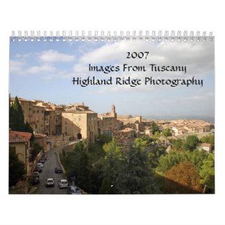 2007Images de TuscanyHighland Ridg… Calendarios