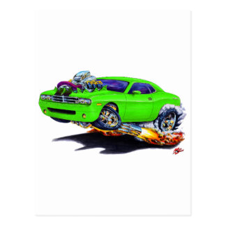 2008-10 Challenger Green Car Postcard