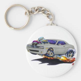 2008-10 Challenger Grey Car Basic Round Button Keychain