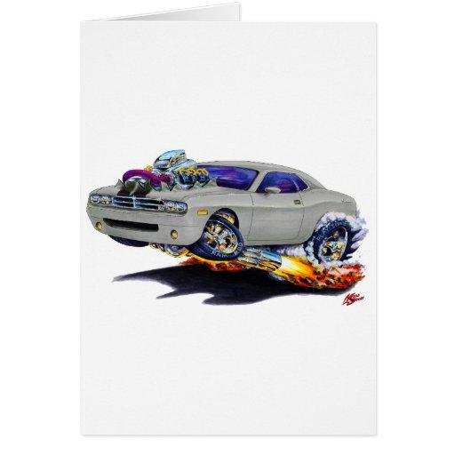 2008-10 Challenger Grey Car Greeting Card