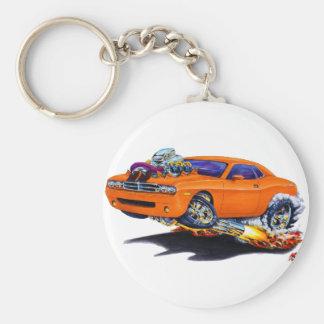 2008-10 Challenger Orange Car Basic Round Button Keychain