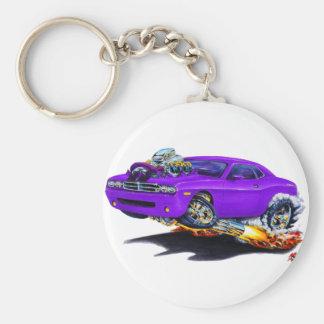 2008-10 Challenger Purple Car Basic Round Button Keychain