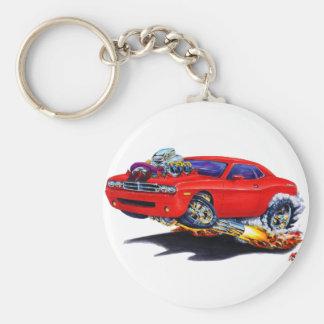 2008-10 Challenger Red Car Basic Round Button Keychain