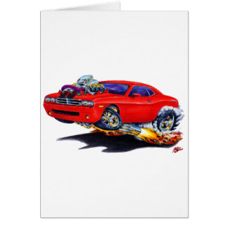2008-10 Challenger Red Car Greeting Card