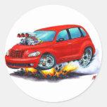2008-10 coche del rojo del crucero de la pinta etiqueta redonda