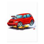 2008-10 coche del rojo del crucero de la pinta tarjeta postal