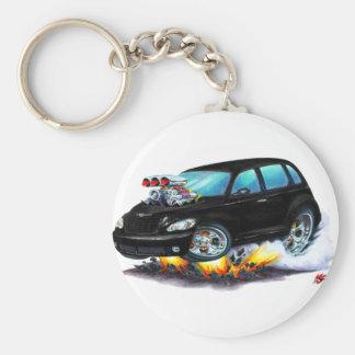 2008-10 PT Cruiser Black Car Basic Round Button Keychain