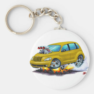 2008-10 PT Cruiser Gold Car Basic Round Button Keychain