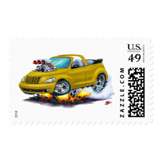 2008-10 PT Cruiser Gold Convertible Postage Stamp