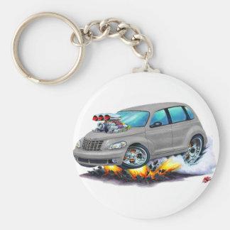 2008-10 PT Cruiser Grey Car Basic Round Button Keychain
