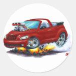 2008-10 PT Cruiser Maroon Convertible Round Sticker