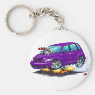 2008-10 PT Cruiser Purple Car Basic Round Button Keychain