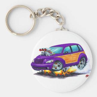 2008-10 PT Cruiser Purple Woodie Basic Round Button Keychain