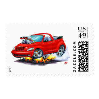 2008-10 PT Cruiser Red Convertible Postage Stamp