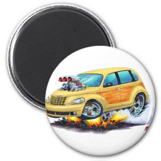 2008-10 PT Cruiser Tan Woodie 2 Inch Round Magnet