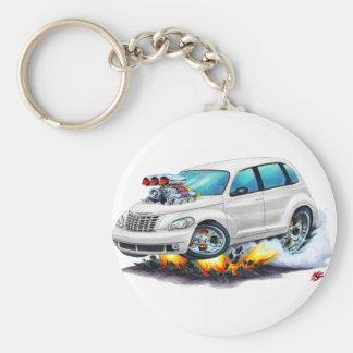 2008-10 PT Cruiser White Car Basic Round Button Keychain