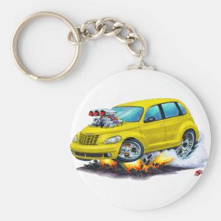 2008-10 PT Cruiser Yellow Car Basic Round Button Keychain