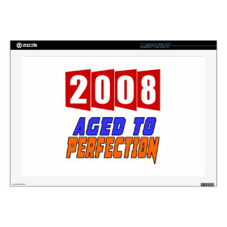 "2008 Aged To Perfection Decals For 17"" Laptops"
