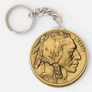 2008 Amer Buffalo Gold Bullion Coin ButtonKeychain Keychain