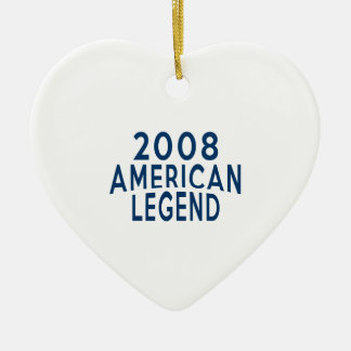 2008 American Legend Birthday Designs Ceramic Ornament