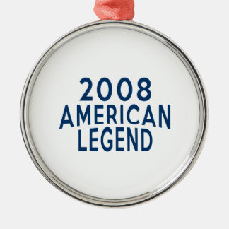 2008 American Legend Birthday Designs Metal Ornament
