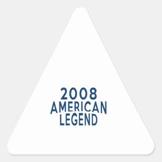 2008 American Legend Birthday Designs Triangle Sticker