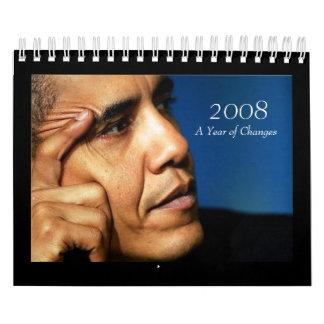 2008, año de cambios - calendario de Barack Obama