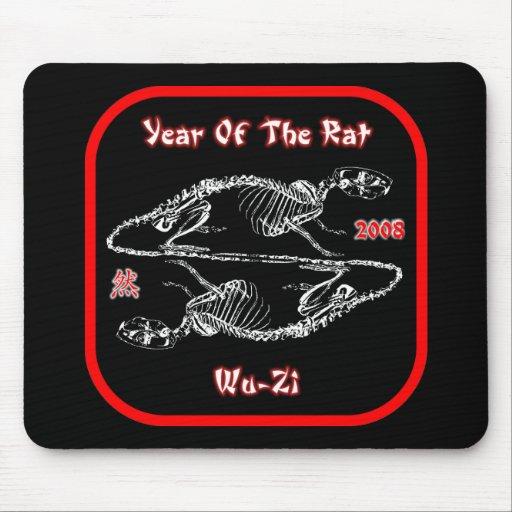 2008 años de la rata Mousepad