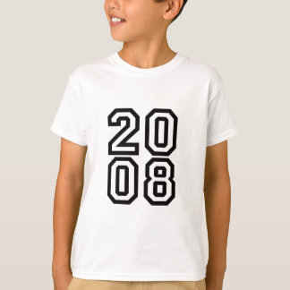 2008 birth year t shirt - born in 2008