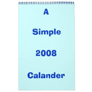 2008, Calander, A , Simple Calendar