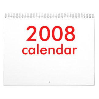2008, calendar