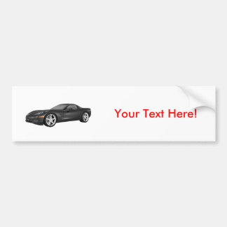 2008 Corvette: Sports Car: Black Finish Bumper Sticker