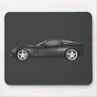 2008 Corvette: Sports Car: Black Finish Mouse Pad