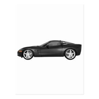 2008 Corvette: Sports Car: Black Finish Postcard