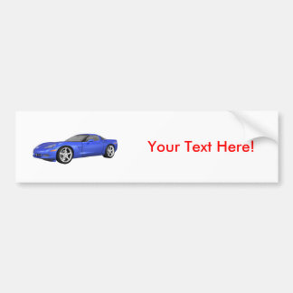 2008 Corvette: Sports Car: Blue Finish: Bumper Sticker