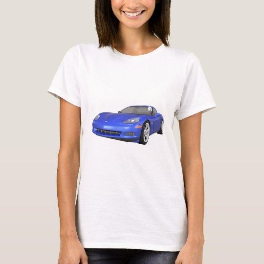 2008 Corvette: Sports Car: Blue Finish: T-Shirt