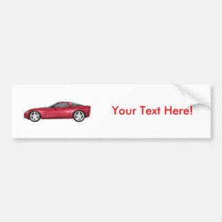 2008 Corvette: Sports Car: Candy Apple Finish: Bumper Sticker