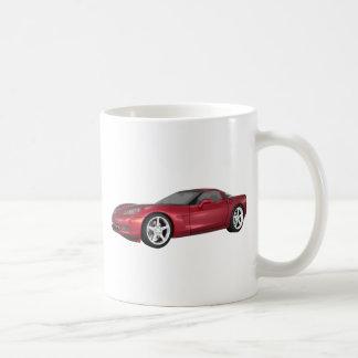 2008 Corvette: Sports Car: Candy Apple Finish: Coffee Mug