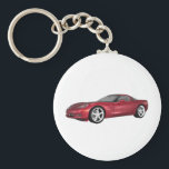 "2008 Corvette: Sports Car: Candy Apple Finish: Keychain<br><div class=""desc"">This item is totally customizable!  You can add your own text,  background,  or images to this design!   The Artwork featured on this product was created with 3DS Max 3D Modeling Software.  No photographs where used in the creation of this item.  3D Modeling by: Brady Arnold.</div>"