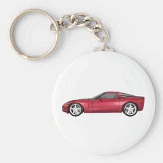 2008 Corvette: Sports Car: Candy Apple Finish: Keychain